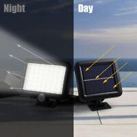 56 led lampe avec capteur lumière spotlight jardin extérieur panneau solaire BM