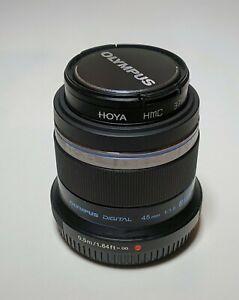 Olympus 45mm F1.8 M.Zuiko Digital Lens Micro 4/3 prime. - Excellent Condition
