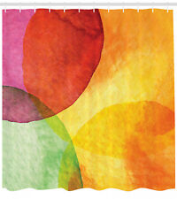 Abstract Watercolor Circle on Paper Style Modern Art Print Shower Curtain Set