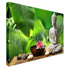 Buddha meditation lotus flower Canvas Wall Art Picture Print
