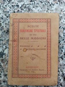bb23  libretto canzoncini spirituali ad uso delle missioni materdomini 1929