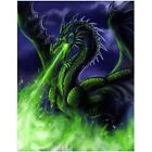 DIY Full Drill Diamond Painting Green Fire Dragon Embroidery Pictures Rhinestone