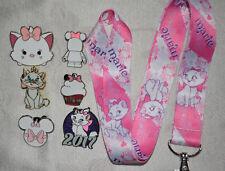 Disney Pin Starter Set 6 pin trading pins plus Marie cat Lanyard Aristocats