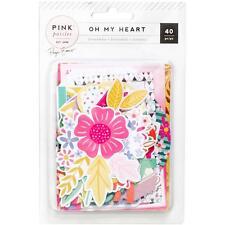 Pink Paislee Paige Evans Oh My Heart Die Cut Cardstock Ephemera Pack 310523