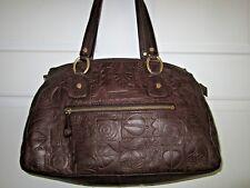 Sigrid Olsen Brown Satchel Handbag 100% Leather. EUC **