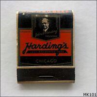 Harding Hotel Famous Corned Beef Chicago Matchbook (MK101)