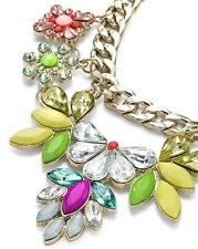 Label Be Statement Necklace Gold/Metal/Large/Chunky/Simply/Flower/Bold/Trend/NEW