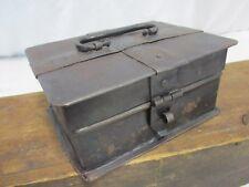 Antique Handmade Metal Folk Art Riveted Primitive Box ~ Jewelry Trinket Gothic