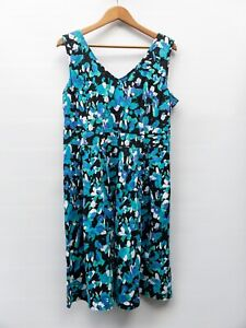Timeless By Vanessa Tong Cotton Fit And Flare Dress Size 16