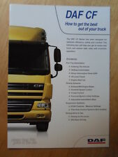 DAF TRUCKS CF Series how to get the best out of your truck glossy Guide Brochure