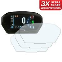 3 x TRIUMPH TIGER 800 1200 2018+ TFT Dashboard screen protector: Ultra-Clear