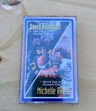 Vtg. David Robinson & Michelle Akers - Be A Champion Cassette Tape - New/ Sealed