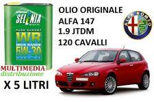 5 LT OLIO MOTORE ORIGINALE SELENIA WR 5W30 ALFA ROMEO 147 1.9 JTDM DIESEL 120 CV
