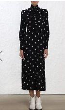 BNWT Zimmermann Fleeting Cinched Midi Dress, Size 0/ AU8, RRP $750