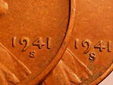 """1941 S - Big & Small """"s"""" mintmarks Lincoln Cent Set  FREE SHIPPING"""
