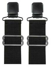 Unisex Adjustable Elastic Boot Stirrups With Black Metal Clip, Set Of Two 08905