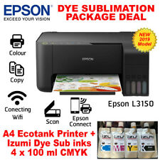 Epson L3150 A4 Inktank printer & Dye sublimation inks