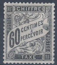 "FRANCE STAMP TIMBRE TAXE N° 21 "" TYPE DUVAL 60c NOIR "" NEUF x TB  M305"