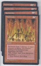 4 x Incinerate Ice Age mtg