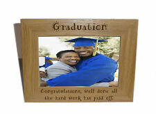 Graduation Wooden Photo Frame 8x6  - Personalise this frame - Free Engraving