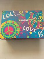 Girly Teen Peace Decor Storage box with Lights, Containers & Pens Gift Set