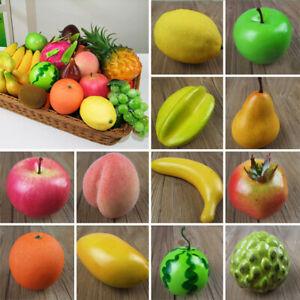 Plastic Simulation Artificial Fruits Grape Apple Lifelike Kitchen Fake Fruit UK