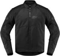 Icon Mens Automag 2 Black Textile Stealth Motorcycle Riding Street Racing Jacket