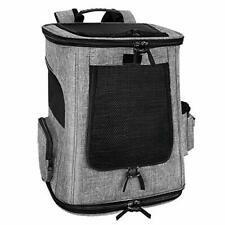 SlowTon Pet Carrier Backpack Airline Approved Small Dog Cat Foldable Grey