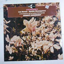 vinyl lp record STRAVINSKY - ANSERMET les noces / apollo musagetes