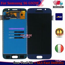 PER SAMSUNG GALAXY S6 G920 SM-G920F DISPLAY LCD TOUCH SCREEN SCHERMO VETRO BLU