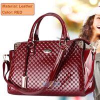 Fashion Women Ladies Patent Leather Handbag Purse Tote Shoulder Messenger Bag