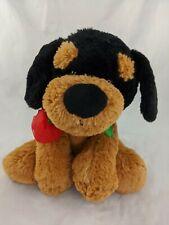 """Kellytoy Rottweiler Dog Plush Rose 10"""" Stuffed Animal Toy"""