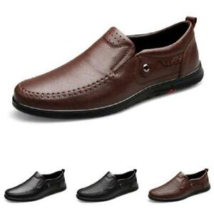 Mens Pumps Hollow out Breathable Driving Moccasins Comfy Slip on Loafers Shoes L