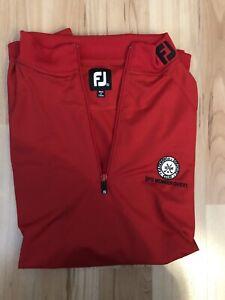 FootJoy FJ Collar Sleeveless Red Golf Vest Size XL Polyester Cazevonia CC