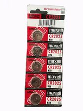 5x Maxell 2025 CR2025 Lithium battery 3V Made in Japan