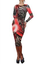 Unbranded Animal Print Long Sleeve Maxi Dresses for Women