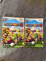 Mario Party 8 (Nintendo Wii, 07) artwork Manual & Inserts only ! no game Or Box