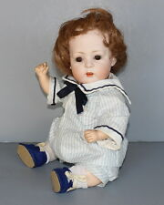 ANTIQUE  GERMAN  BISQUE  BABY  DOLL  By  BAHR & PROSCHILD