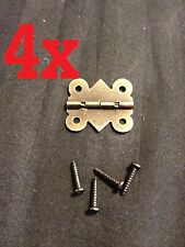 4x  Butt Hinge Bronze small mini doll house Antique M00812 Carved wood box b24