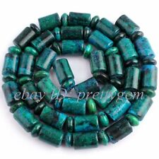 "3x5mm Rondelle&5x9mm Column Chrysocolla Gemstone Beads Strand 15""(Dye Color)"