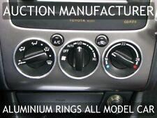 Toyota Avensis 2000-2002 Alluminio Anello Ventilazione Anelli Cromati 3 pezzi
