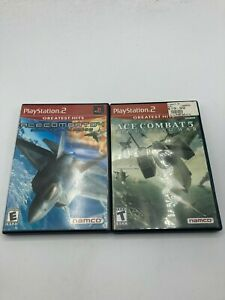 Sony PlayStation 1 PS1 Tested Ace Combat 4 + Ace Combat 5 Unsung War LOT