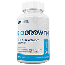BIOGROWTH - Male Enhancement Sexual Stamina Booster - 60 Caps - 1 Month Supply