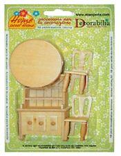 Kit en bois salle à manger miniature