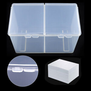 Nail Art Container Wipes Cotton Storage Box Files Buffer Brushes Tools Case