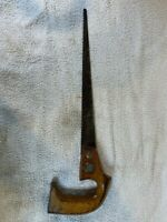 """Vintage Warranted Superior Key Hole Hand Saw - 16"""" Blade Wooden Handle A813"""
