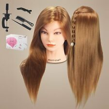 "Beauty Star 20"" Long Hair Cosmetology Mannequin Manikin Training Head Model with"