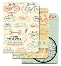 Cavallini Mini Notebooks Vintage BICYCLES 4x5, Set of 3 Different BIKE