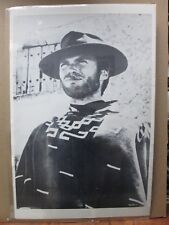 Vintage black and white Poster  Clint Eastwood 1970's Dirty Harry Inv#G458