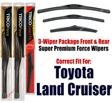 Wiper Blades Trico 3-Pk Front/Rear fits 2008+ Toyota Land Cruiser 25240/220/12a